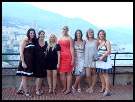The girls and I posing befor entering the Monte Carlo Casino