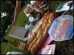 Our picnic dinner by the Eiffel Tower, Paris