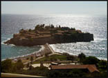 Sveti Stefan in Montenegro. This island resort needs to be booked WAY in advance and costs a fortune!