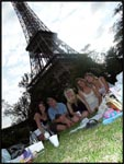 The girls and I by the Eiffel Tower