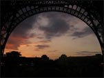 Sunset under the Eiffel Tower