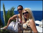 Mel and I on a cliff edge in Dubrovnik