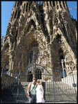 Mel and I in front of La Sagrada Familia, Barcelona, Spain