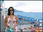 Me standing by the beach at the French Riviera