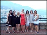 Jac, Amy, Mel, Liz, me, Jess and Jade in Monte Carlo