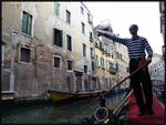 Our gondola dude in Venice