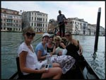 ess, Amy, Jac, Mel and me on our gondola in Venice, Italy