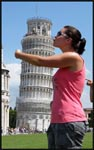 Me hugging and kissing the Leaning Tower of Pisa