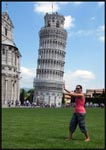 Me trying to prevent the Leaning Tower of Pisa from falling!