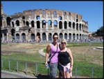 Mel and I in front of the Collesium in Rome, Italy