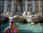 Me in front of the Trevi Fountain, Rome