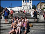 The gang sitting on the Spanish Steps in Rome