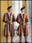The guards outside the Vatican