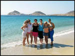 Jade, Jess, Jac, Amy, Mel and I on our Mykonos beach