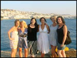 The gang before dinner in Mykonos