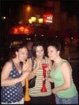 Jess, Me and Crys drinking our Ugly Sticks from Coyote Ugly in Las Vegas