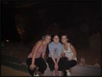 Me, Crys and Monica is Mammoth Cave, Kentucky