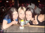 Crys, Monica and I with our ice-man at a bar in Nashville, Tennessee