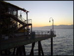 Sunset at Santa Monica Pier, Santa Monica, California