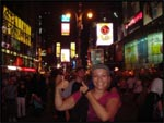 Me at Times Square at night, New York