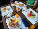 Our daily buffet breakfast at our resort in Phuket, Thailand