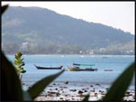 View from out breakfast table looking out onto Kalim Bay and Patong Beach, Phuket, Thailand