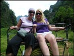 Mel and I sitting on our elephant at Kao Sok National Park, Thailand