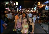 Me, Mel and Jess on Bangla Road, Phuket, Thailand