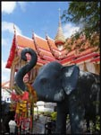 Elephants are placed all over and around the temples. They are sacred to the Thai's.