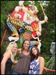 Mel, me and Jess at Fanta Sea in Phuket, Thailand