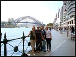 Kim, me, Cath and Nic with the Sydney Harbour Bridge in the back ground, Sydney, Australia