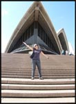 Me standing on the steps of the Sydney Opera House