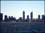 View of the city of Perth from the ocean