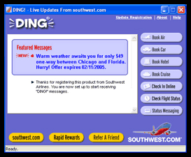 SOUTHWEST AIRLINES' DING! APPLICATION