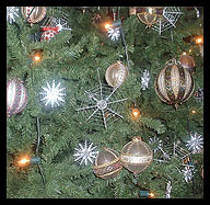 UKRAINE XMAS TREE WITH SPIDER WEBS