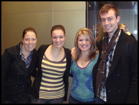 Nic, myself, Kelly Clarkson & Gavin in Melbourne, before the Fox Rooftop