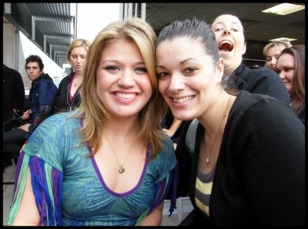 Kelly Clarkson and I on the Fox Rooftop, Melbourne