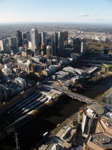 View of Melbourne from the 88th level at the Eureka Skydeck
