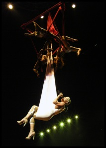 Pink hanging from the ceiling at Rod Laver Arena, Melbourne - 30/05/2009